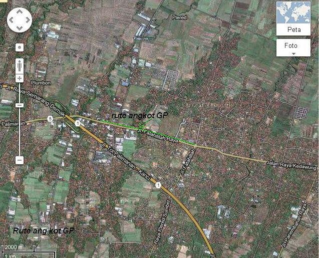 peta Tegal wangi plered Cirebon