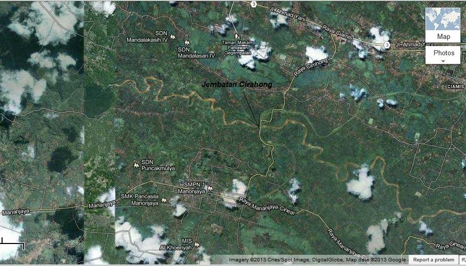 peta jembatan Cirahong
