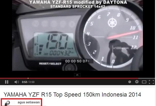 top speed R15 Daytona  bajakan