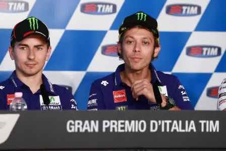 Lorenzo dan Rossi press coverence Mugello 2015