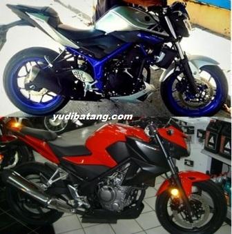 yamaha MT25 vs Honda CB300F 1