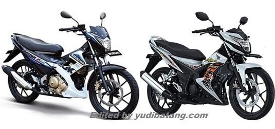 suzuki satria F150R vs Honda New Sonic 150 R
