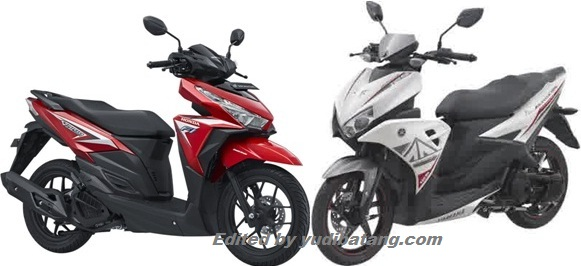 Honda Vario 125 vs Yamaha Aerox 125