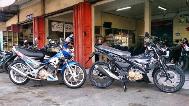 Suzuki Satria F lama dan Suzuki Satria F baru