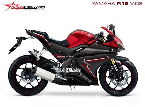 Yamaha R15 renderan motoblast