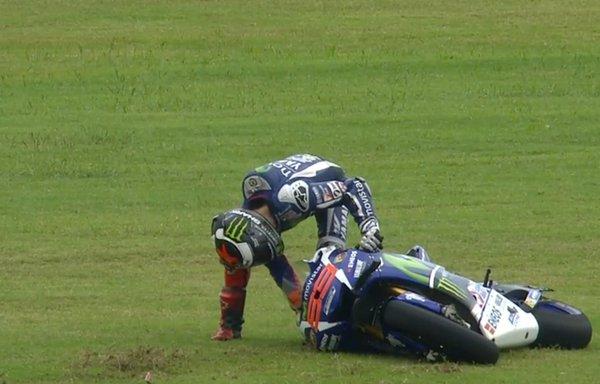 Lorenzo jatuh diArgentina