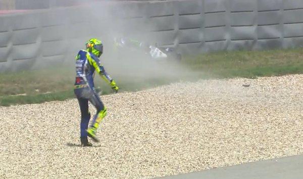 Rossi jatuh dimotogp amerika
