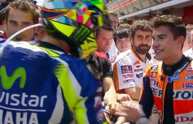 motogp prancis Rossi salaman dengan Marquez