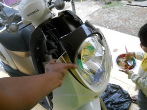 Lampu depan scoopy