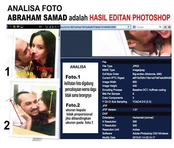 Photo editan Abraham samad bermesraan dengan putri Indonesia