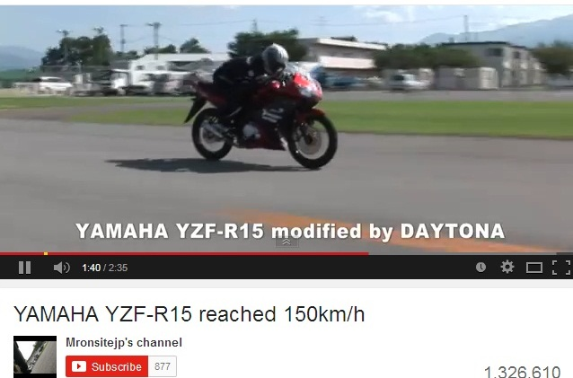 top speed R15 Daytona 2
