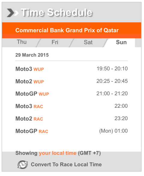 jadwal moto gp qatar 2015
