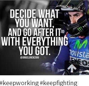 keep working Jorge Lorenzo
