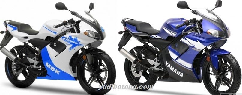 Yamaha TZR50 vs MBK 50