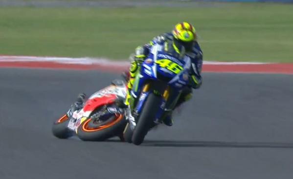Rossi vs Marquez motogp argentina 2015