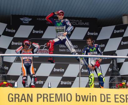 Lorenzo podium Jerez 2015