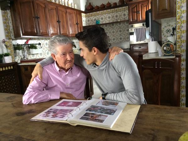 Marquez with grand pa