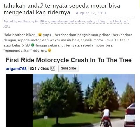 motor mengendalikan tuannya