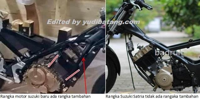 Rangka motor sport suzuki terbaru