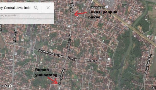 peta jalan gajah maada batang