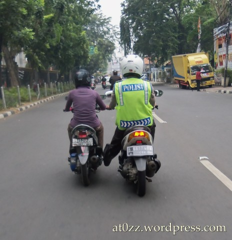 polisi mancal motor mogok