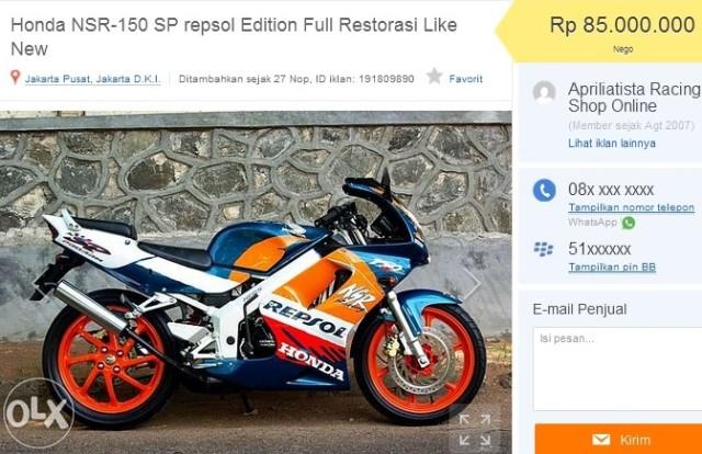 jual Honda NSR 150 SP Repsol Edition OLX