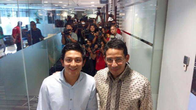 Rio Haryanto bersama pak Sandiago Uno