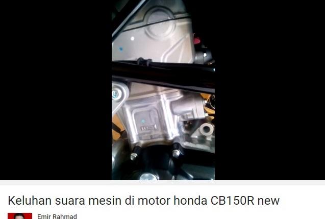 suara klothok-klotok Honda CB150R 2016 3