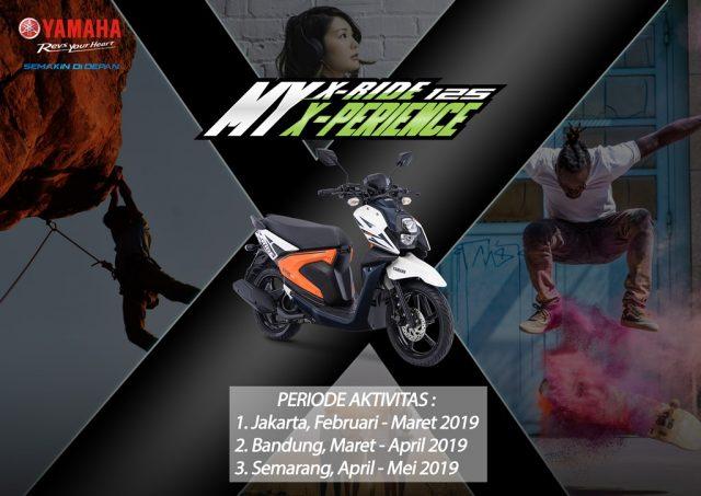 all new yamaha x-ride 125 activity