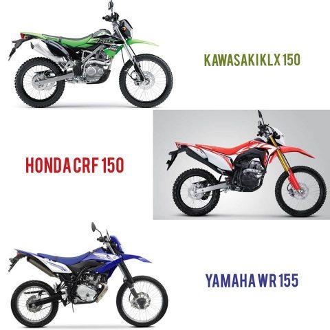 KLX150 vs CRF150L vs WR155R